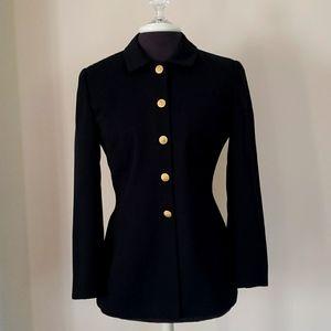 Saville Suit Blazer Black with Gold Petite size 6P